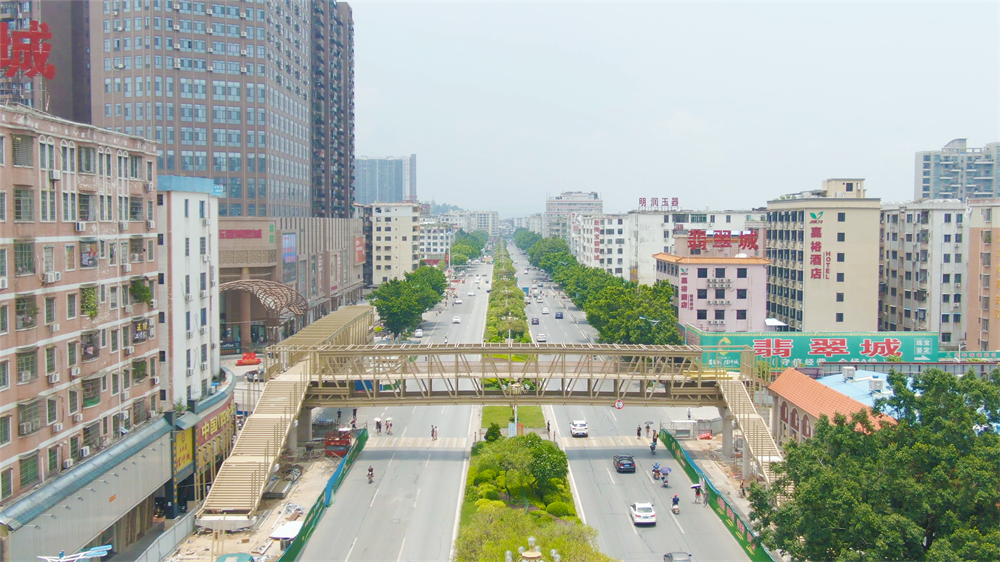 铝之桥丨华南最大体量铝合金天桥落地四会天光墟