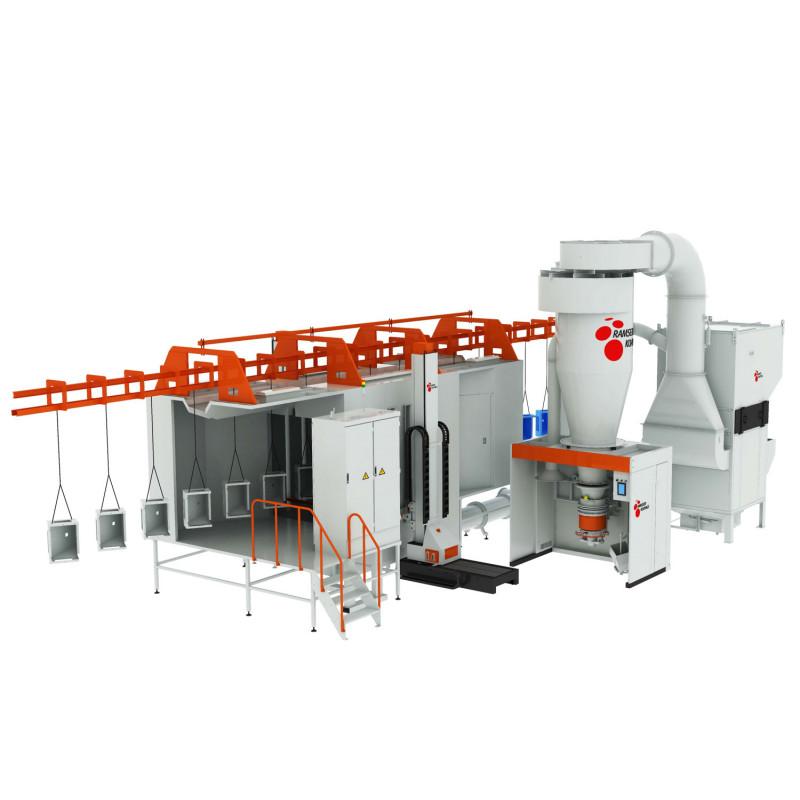 CQB 高效快速换色喷房及回收系统