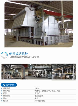 侧井式熔铝炉