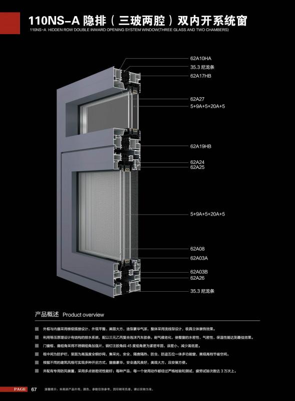 铭格系统门窗型材