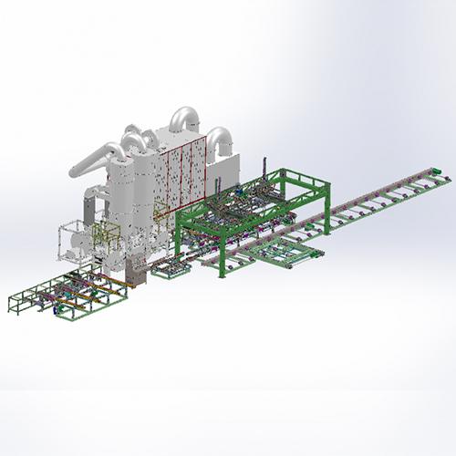 铝型材自动喷砂系统