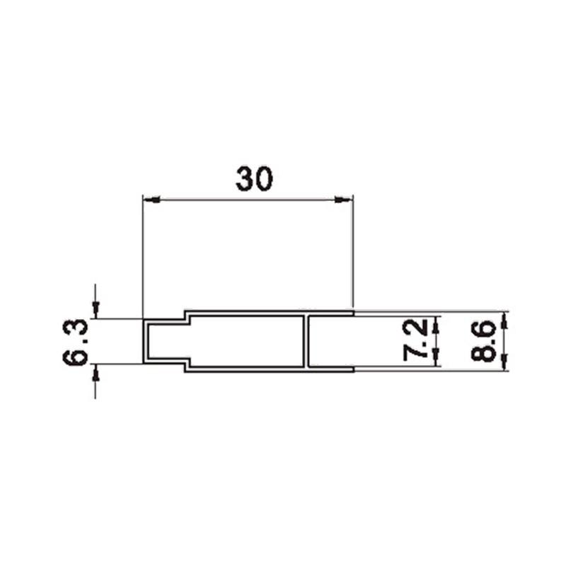 扣板系列型材图