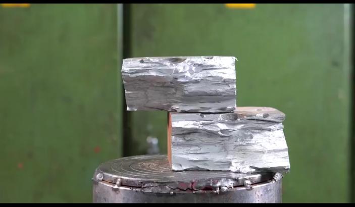 加入了镓的铝还能扛住150吨的液压机吗?颠覆你对合金的想象!