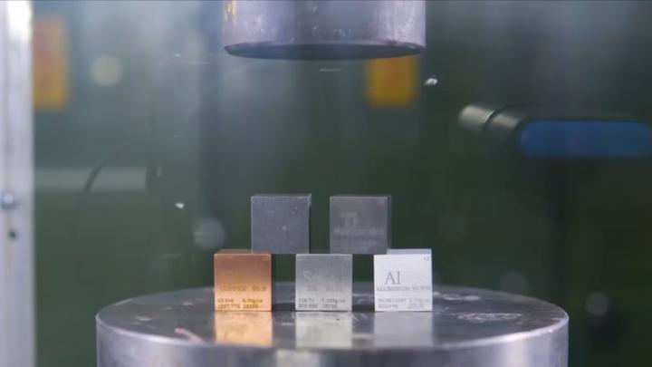 铜、铁、锡、铝,哪种金属硬度最大?液压机告诉你!