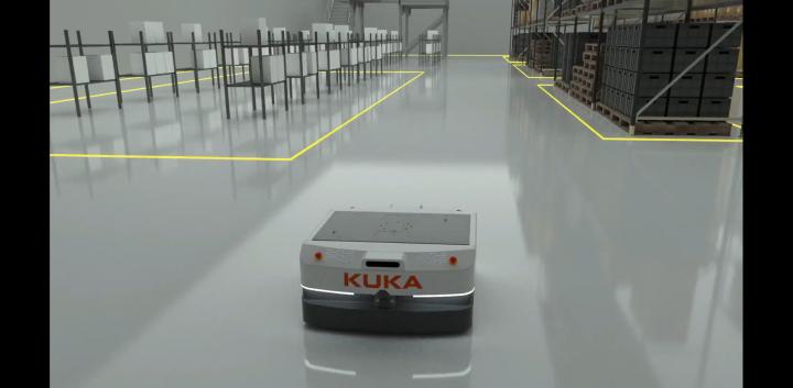 激光导航,库卡发布了一款全新移动机器人
