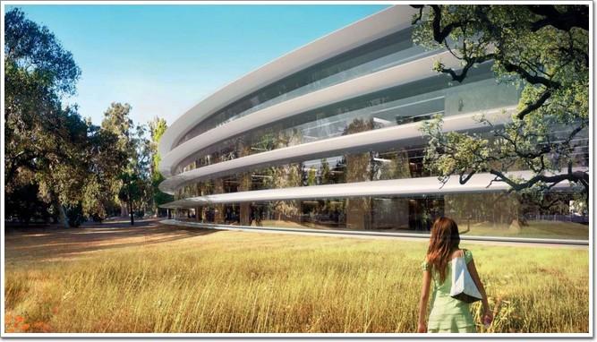 苹果新总部大楼整体设计图