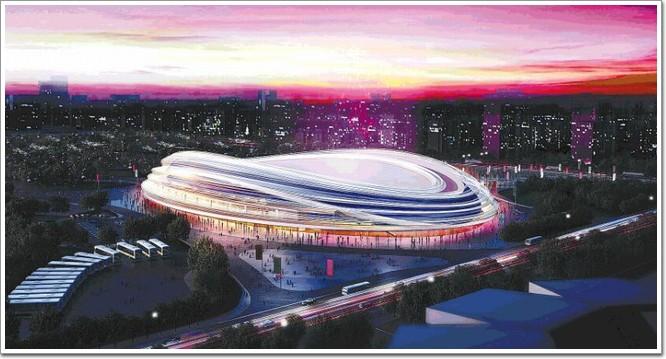 但北京需要新建的场馆——速度滑冰馆,在今年5月设计方案已经亮相了
